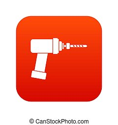 Medical drill icon digital red