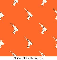 Medical drill pattern vector orange