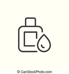 Medical drops line icon