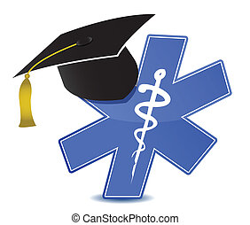 medical education symbol illustration design over white