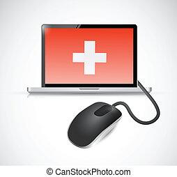 medical electronic concept illustration design