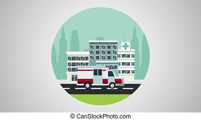 Medical emergency cartoon HD animation