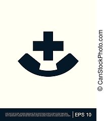 Medical Emergency Number icon template