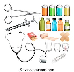 Medical equipment and container