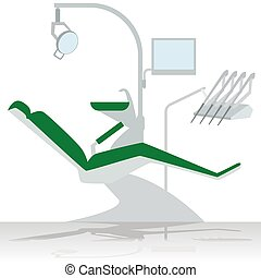 Medical equipment. Dentist chair. The illustration on a white background.