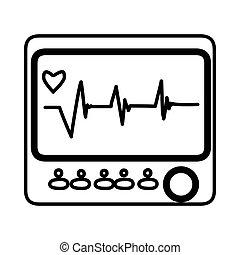 Medical equipment icon, vector illustration.