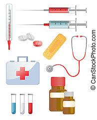 illustration of different medical elements