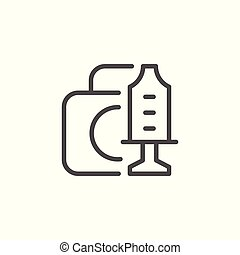 Medical equipment toy line icon