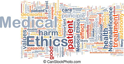 Medical ethics background concept wordcloud - Background...