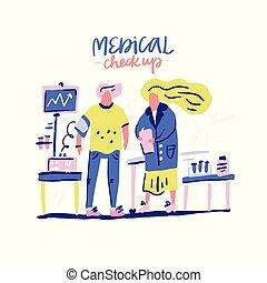 Medical Expert Checks Patient - Blood Pressure Measuring....