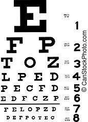 Medical Eye Chart vector illustration