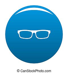 Medical eyeglasses icon blue