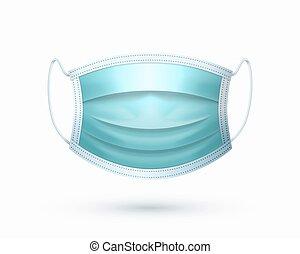 Medical face mask isolated on white background. Vector illustration.