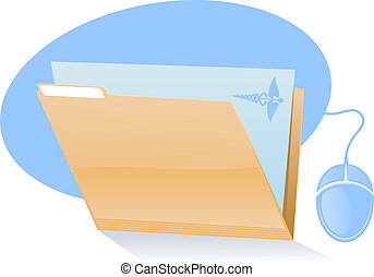 Medical File Icon - Electronic Health Records Icon