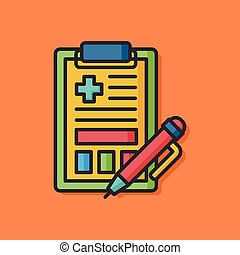 medical file vector icon