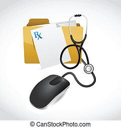 medical files computer concept illustration design