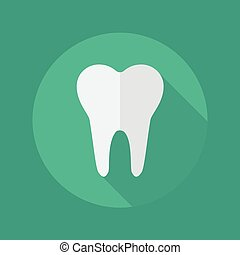 Medical Flat Icon Dentistry symbol