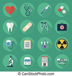 Medical Flat Icon Set