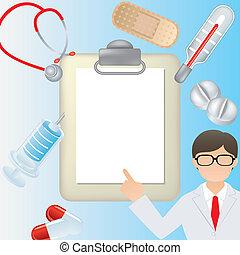 Medical frame - Illustration vector