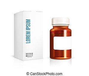 Medical glass bottle