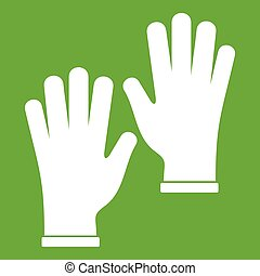 Medical gloves icon green