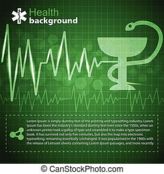 Medical Green Background - Medical green background with cup...