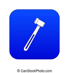 Medical hammer icon digital blue