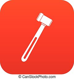 Medical hammer icon digital red