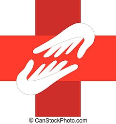 Medical hands logo