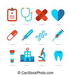 Medical health care icon - Medicine and health care icons in...