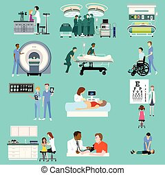 Medical Healthcare Activities Cliparts - A vector...