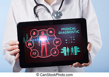 Medical Healthcare Concept - symbol of medicine innovation medical treatment emergency service doctoral data and patient health.