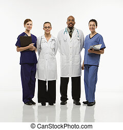 Medical healthcare workers. - Full-length portrait of...