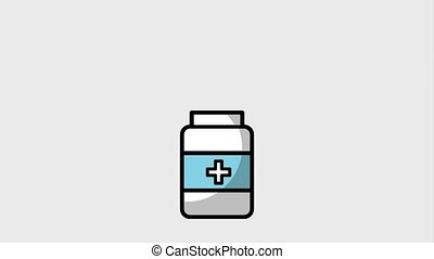 medical healthy lifestyle - medical bottle with pills...