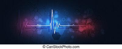 medical heart beat illustration