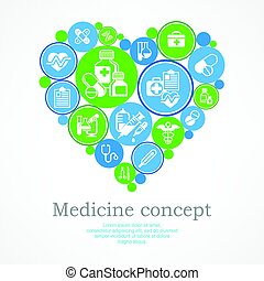 Medical heart concept