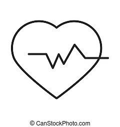 medical heartbeat pulse rhythm line icon