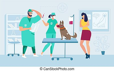 Medical Help for Injured Pet Flat Vector Concept
