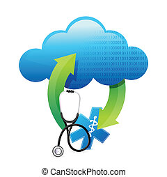 medical history storage concept illustration