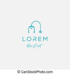 medical home logo vector design icon sign