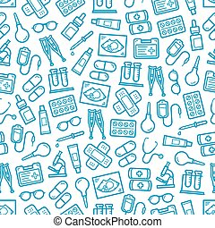Medical hospital and pharmacy seamless pattern