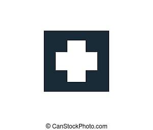 Medical Hospital Icon Vector Logo Template Illustration Design
