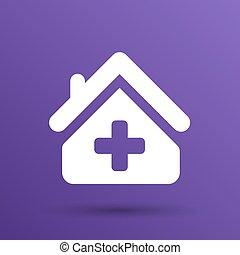Medical hospital sign icon Home medicine symbol