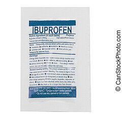 Medical Ibuprofen Packet - A packet of ibuprofen isolated on...