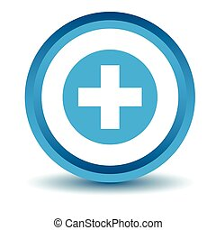 Medical icon, blue, 3D