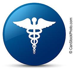 Medical icon blue round button