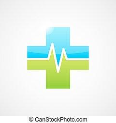 Medical icon, cross shape
