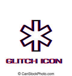 Medical icon flat