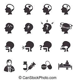 Medical icon set, Brain