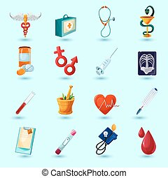 Medical Icon Set - Medical icon set with first aid kit pill ...